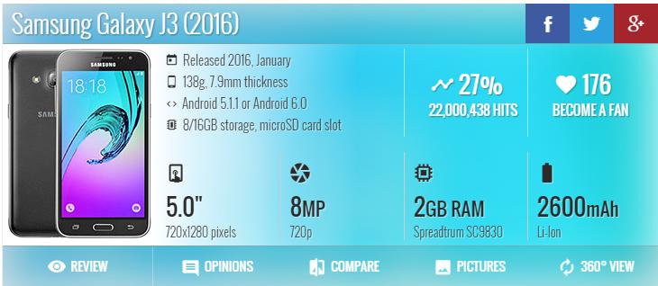 Hard reset Samsung Galaxy J3 Nova J320P